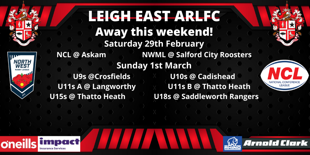 Our Away games this weekend